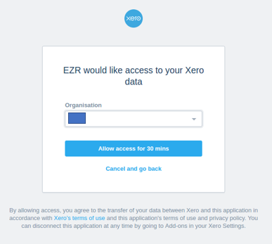 OAuth for EZR and XERO