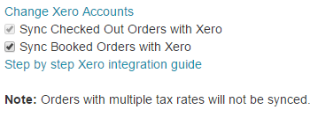 sync orders in Xero