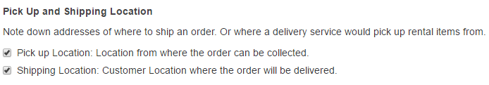 shipping location