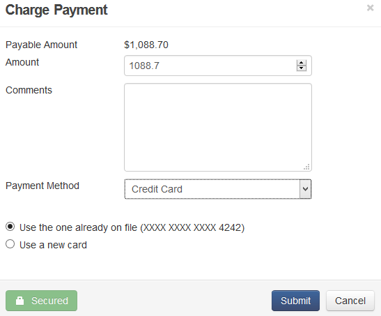 charge payment