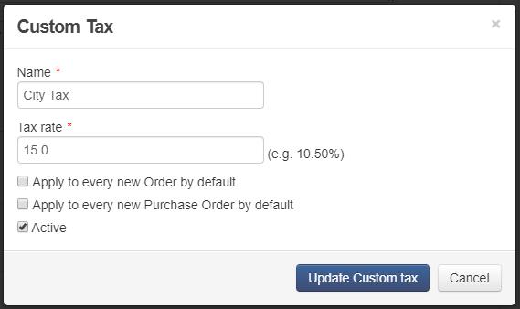 Custom tax overlay