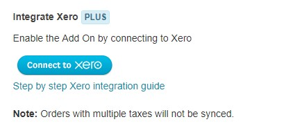 xero integration - connect to xero button