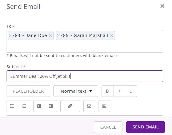 7. Send customer emails