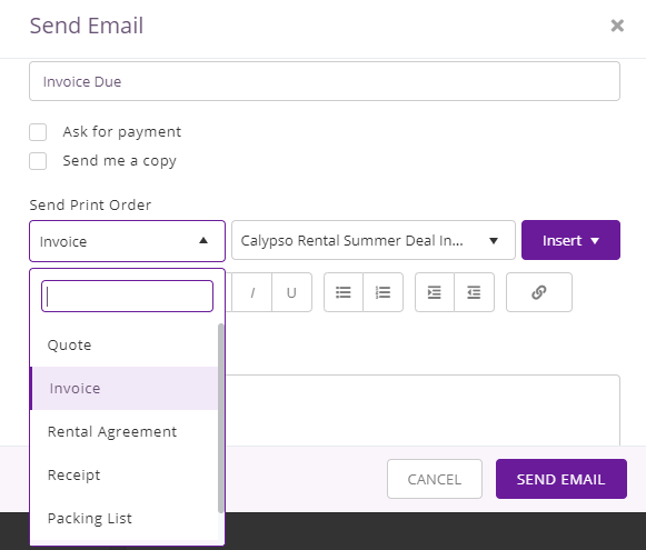 Send templates