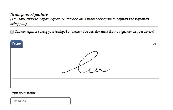 electronic signatures - signed