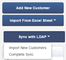 Import and Sync LDAP Customers
