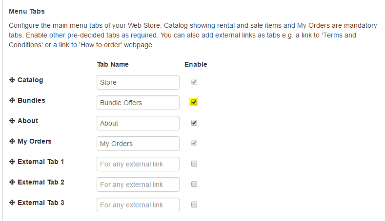 Enable Bundles