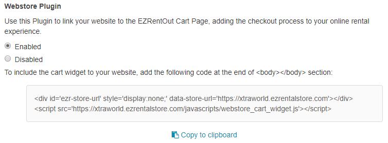 webstore widget