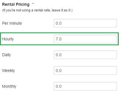 rental pricing