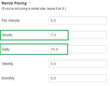 rental pricing - mixed