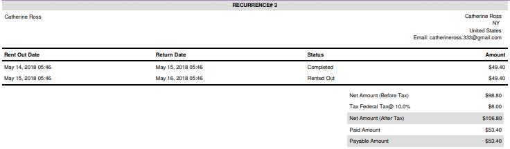 recurring order invoice