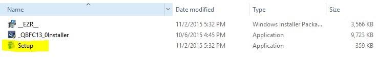 setup.exe file