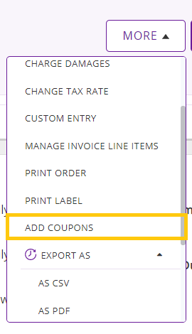 add coupons