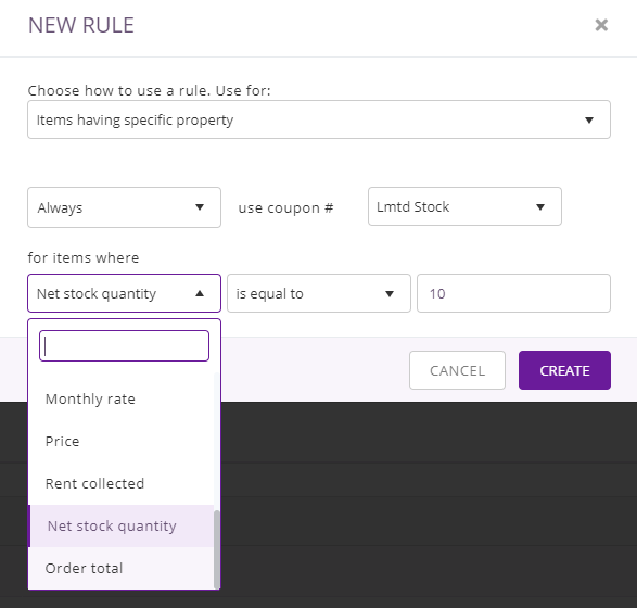 item having specific property