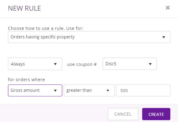 orders having specific property