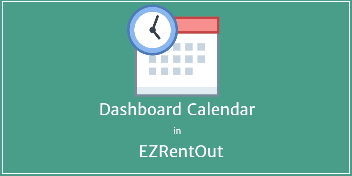 Dashboard Calendar in EZRentOut