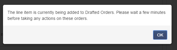 drafted orders