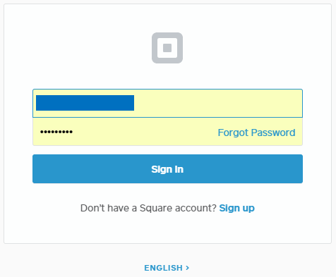 square login page