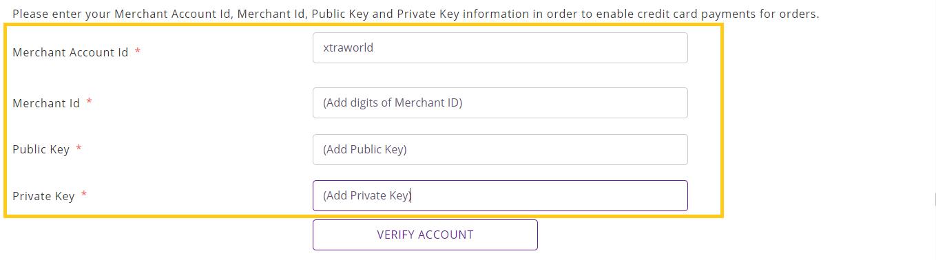 Add Merchant ID