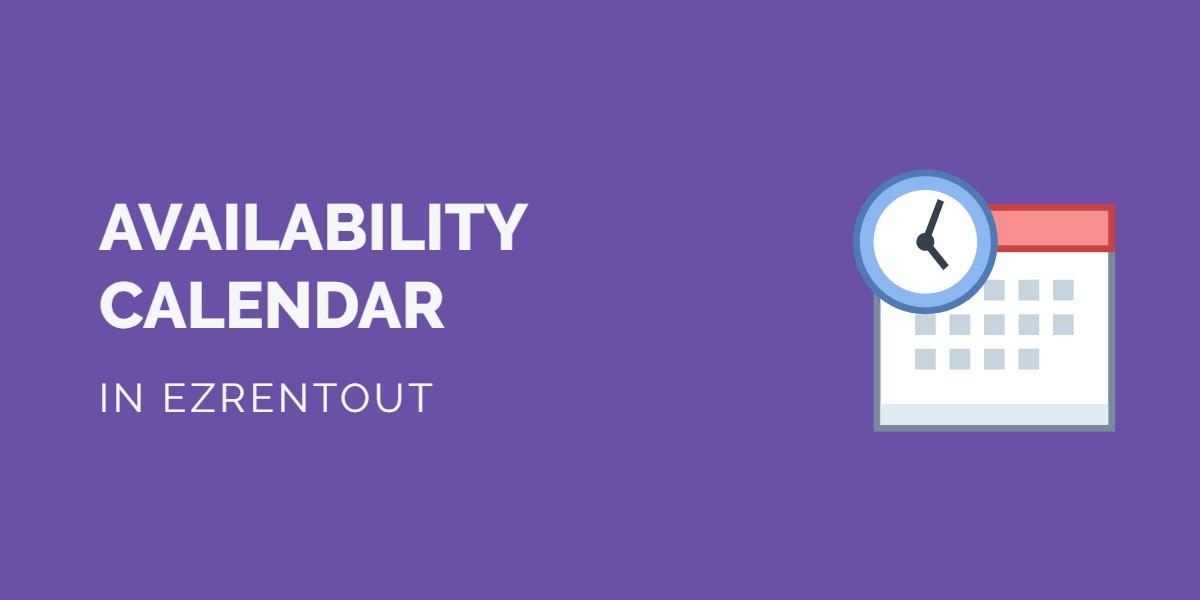 Availability calendar EZR