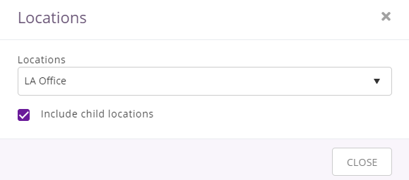 filter availability calendar by locations