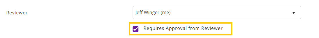 Requires approval from reviewer