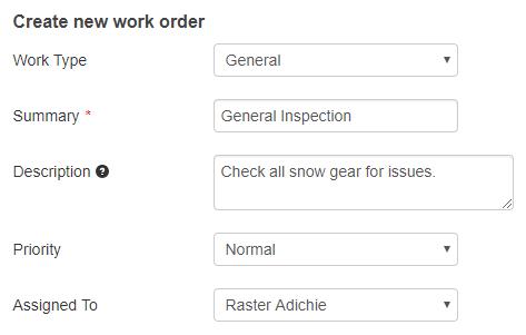 General Work Order