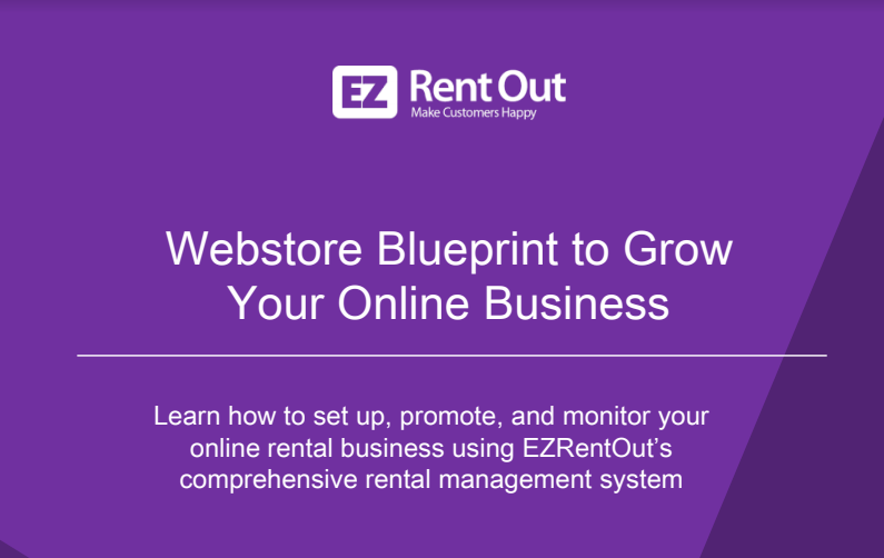 ezrentout webstore guide for rental business