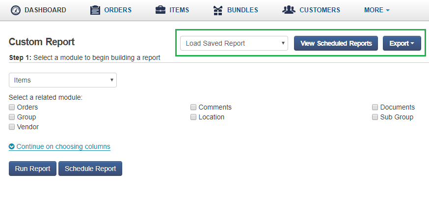 Custom Report Buttons