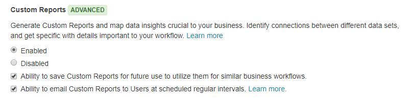 custom reports add on