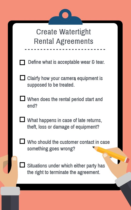 Watertight rental agreement terms