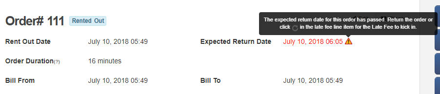 expected return date overdue