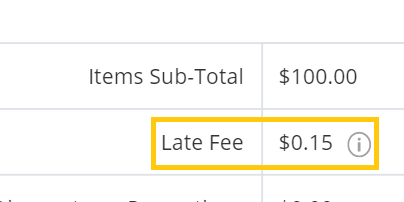late fee for bundle