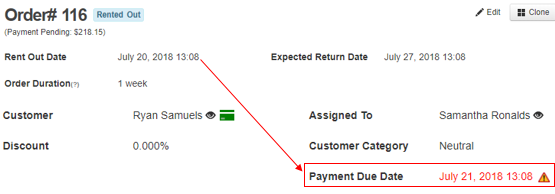 payment due date passed