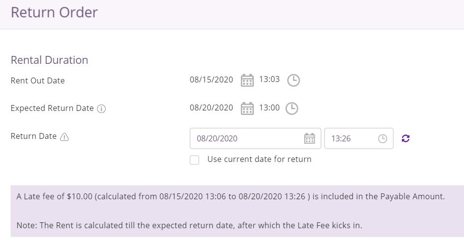 return date