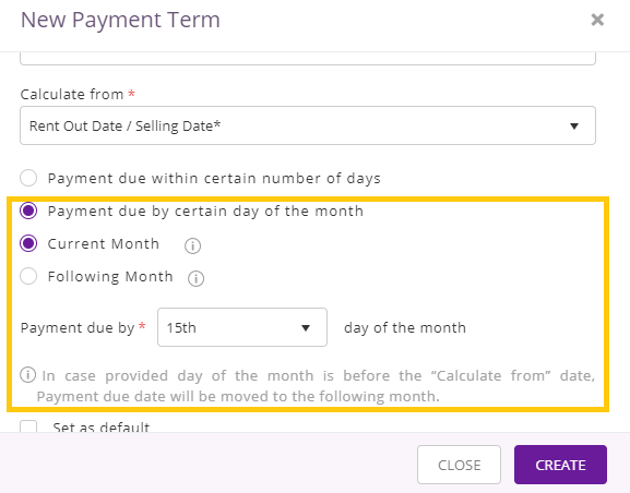 second option for calculating payment