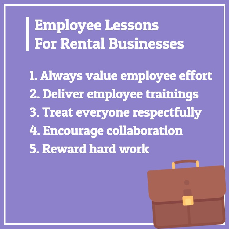Employee rental business lessons