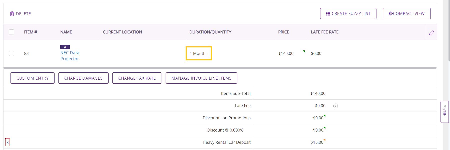 Payable month $140