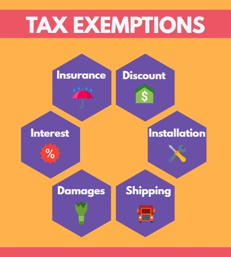 filing rental sales tax - exemptions