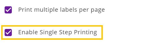 enable single step printing