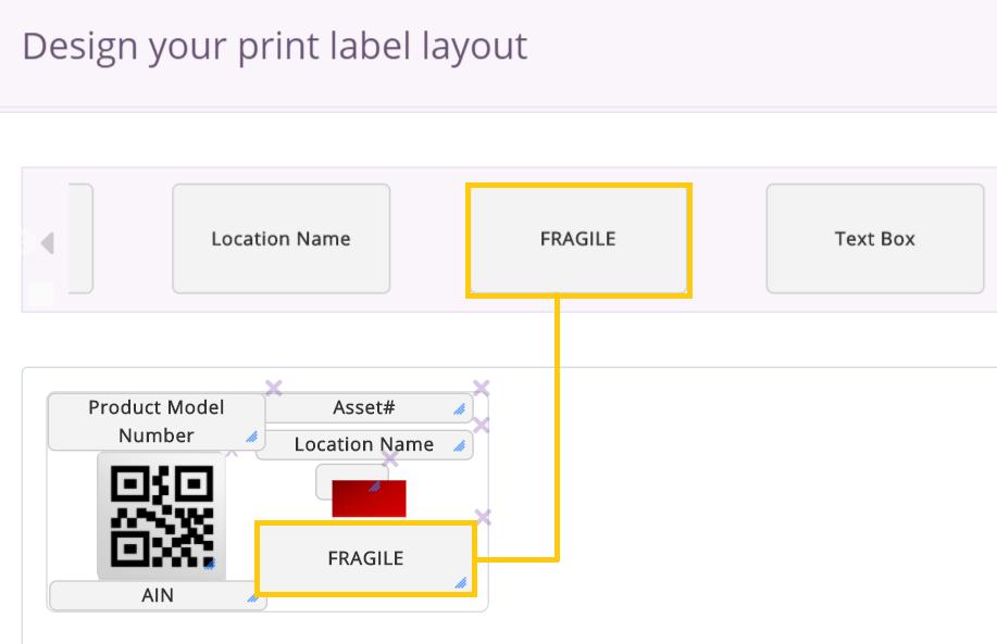 fragile print template