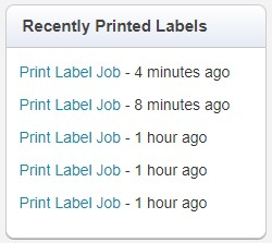 print labels - recently printed labels