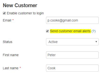 Send Email Alerts