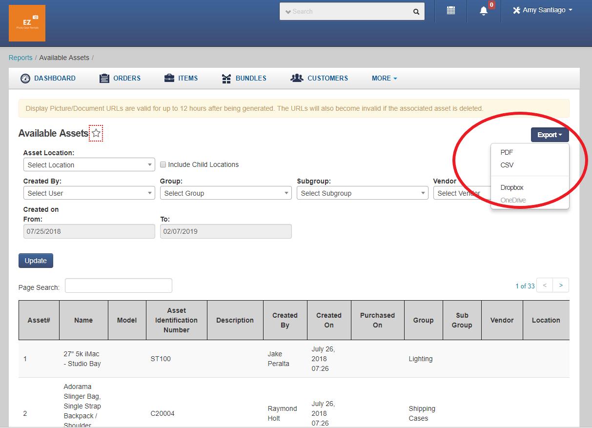 Dropbox integration - Exporting Reports to Dropbox