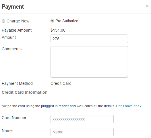 PreAuthorize Payment