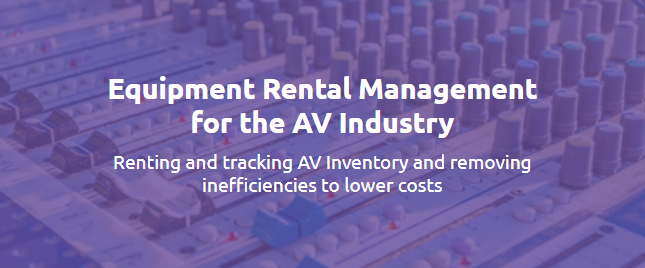 audiovisual equipment rental