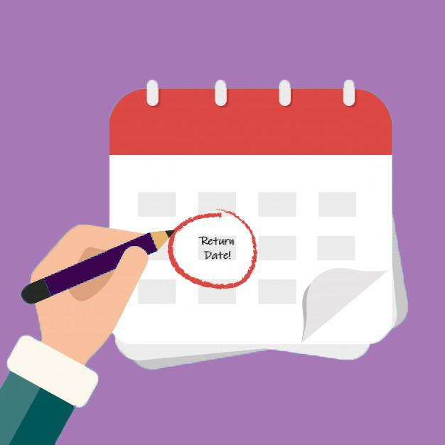 Send reminders for timely return of rental items