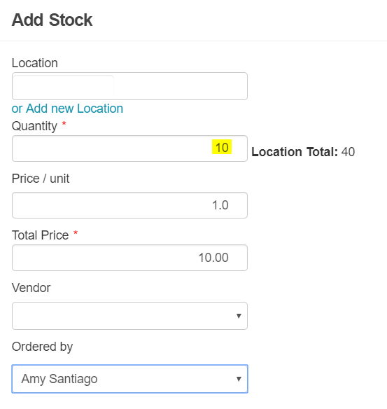 Specify stock quantity for items to be visible on webstore