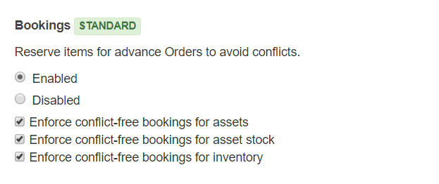 Enforce conflict free bookings on webstore