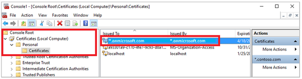 certificate for azure ad ds